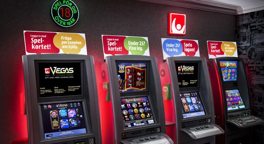 Jack Vegas maskiner på kasino